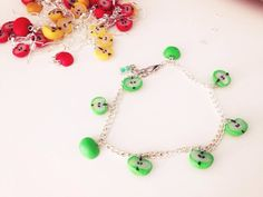 Apples/ Äpfel/ Anhänger / Armband/ Ohrringe/  Fimo/ Polymer Clay / by cleansweepstuff