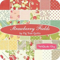 color story / Strawberry Fields Charm Pack Fig Tree Quilts for Moda Fabrics - Fat Quarter Sho on imgfave