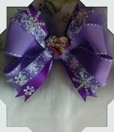 Frozen Bow Made By Norma's Unique Gift Baskets