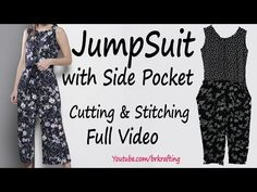 Jumpsuits have been popular throughout the years, but they have become even more fashionable in recent years. Some celebrities have even worn jumpsuits on th. Dress Sewing Tutorials, Dress Sewing Patterns, Sewing Ideas, Sewing Crafts, Sewing Projects, Diy Clothes Tops, Sewing Clothes, Anarkali Patterns, Maxi Gowns