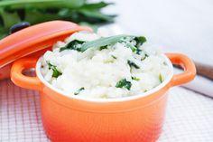 Löwenzahn-#Risotto noch nie gehört oder gegessen? Versuchen sie dieses Rezept, es ist köstlich und gesund. Mashed Potatoes, Grains, Rice, Cooking Recipes, Ethnic Recipes, Food, Risotto Recipes, German Recipes, Clean Foods
