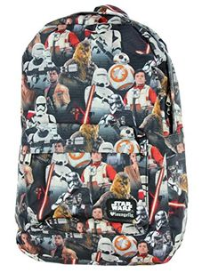 Newly Added Star Wars The Force Awakens All Over Print Backpack! http    448e67f8d2