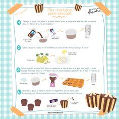 Mini-charlottes poire/chocolat