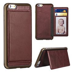 "iPhone 6 Plus Cases, ANTEK® [Kickstand] Slim Leather iPhone 6 Plus Wallet Case Credit Card Holder with Stand Feature Protective Shell for Apple iPhone 6 Plus Cases, iPhone 6s Plus case 5.5"" D/Wine ANTEK http://www.amazon.com/dp/B0183PH8H6/ref=cm_sw_r_pi_dp_96jJwb12KN7W5"