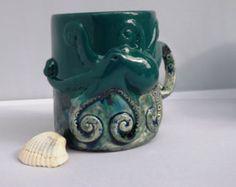 Whale Mug Handmade Large Ceramic Coffee Mugs by CreativityHappens