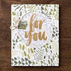 Don't miss the Botanical Gardens designer series paper and coordinating washi tape from the 2016 Occasions Mini! (The sentiment on this card is from the Botanicals For You stamp set from the Sale-A-Bration brochure)