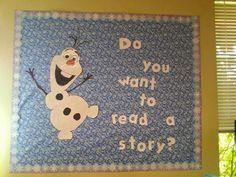 Disney ' s Frozen - Reading bulletin board