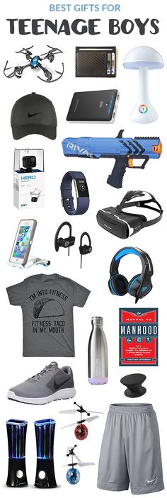 Best Gifts for teen boys. Surprise surprise, all my son's favorite colors too lol
