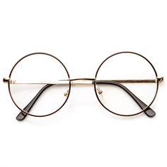 Lennon Mid Size Full Metal Frame Clear Lens Round Glasses. Solglasögon  KvinnorArmbandÖrhängenGlasögonramarHerraccessoarerCirkellinserŠtýl Solglasögon ... 3aac6726c28de