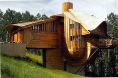 Wooden House Design in Mt. Crested Butte, Colorado by Robert Harvey Oshatz Architect