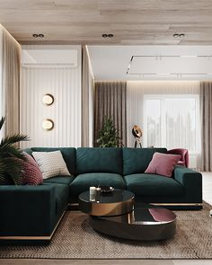 Project Raft on Behance Living Room Sofa Design, Home Room Design, Home Interior Design, Living Room Designs, Living Room Trends, Home Living, Boho Living Room, Living Room Decor, Luxury Dining Room