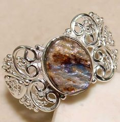 Rainbow Abalone Shell 100% Pure 925 Solid Sterling Silver Ring