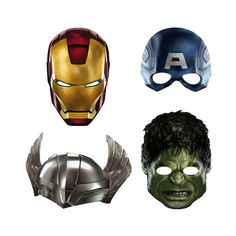Avengers Party Masks