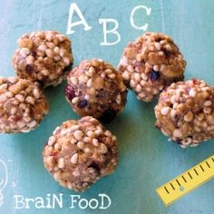 Puffed Millet and Whole Grains make these peanut buttery balls a perfect after school snack or breakfast on-the-Go.