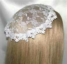 Chapel Veil, back when you had to wear something on your head for Mass