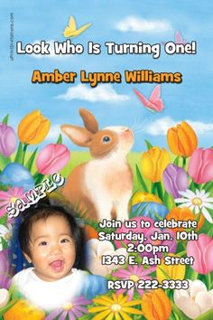 Easter Invitations  - Any Wording - Get these invitations RIGHT NOW. Design yourself online, download and print IMMEDIATELY! Or choose my printing services. No software download is required. Free to try!
