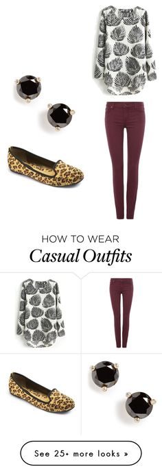 """""""Casual"""" by amalia-gonzalez on Polyvore featuring 7 For All Mankind and Kate Spade"""