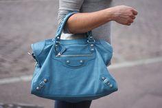 BLUE BALENCIAGA BAG