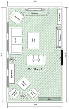 Living Room Floor Plan layouts - rectangular sitting rooms - | furniture layout, sitting