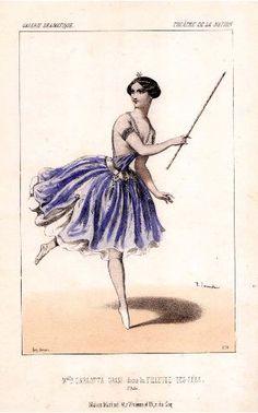 Melle Carlotta Grisi dans La filleule des fées, 2e acte