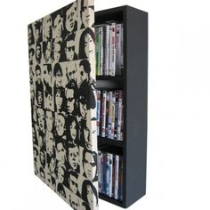 my very own made from scratch wall mounted dvd storage cabinet Dvd Storage Cabinet, Dvd Cabinets, 1st Apartment, Home Organization, Flipping, Bedroom Ideas, Bookcase, Craft Ideas, Shelves