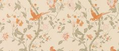 Summer Palace Terracotta Floral Wallpaper at Laura Ashley