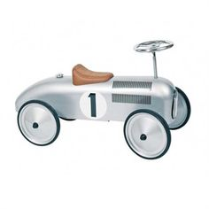 Buy Silver Classic Metal Ride on Car by Goki available at The Toy Centre. Ideal ride on toy for toddlers. Silver Car, Silver Metal, Ride On Toys, Rubber Tires, Car Ins, Educational Toys, Baby Toys, Toddler Toys, Wooden Toys