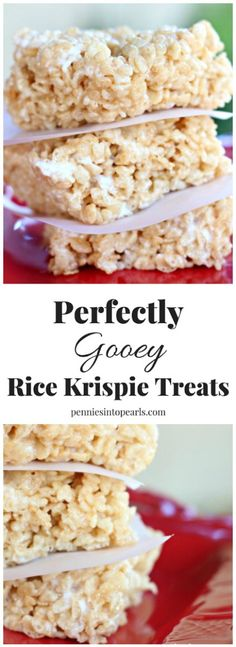 Rice Krispie Treats Recipe - Not too gooey but perfectly ooey, easy, and cheap dessert recipe for rice krispie treats!