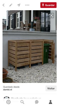 pallet wheelie bin store garten floristik pinterest g rten m lltonne und gartenideen. Black Bedroom Furniture Sets. Home Design Ideas
