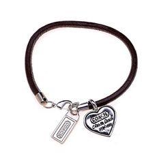 Coach Heart Logo Coffee Bracelets