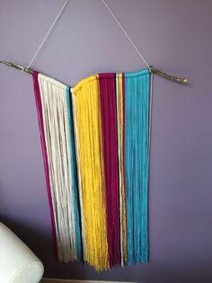 Easy yarn art wall hanging!