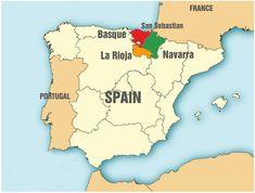 Miguel de Unamuno era de la region Basque de España (la roja). Se gustaba la lengua Basque mucho.
