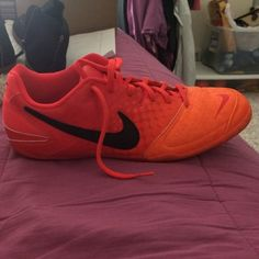 Indoor Nike soccer shoes Rarely worn still in great condition nice flashy colors Nike Shoes Athletic Shoes