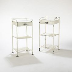 Bedside tables for Lycee de Metz, Manufactured by Les Ateliers Jean Prouvé, France. 1936