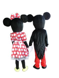 TWO PCS mascot as picture shown Minnie mouse mascot costume