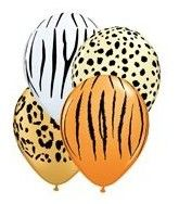 Safari print Lion King balloons