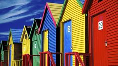 Saint James Beach Houses, Cape Peninsula, South Africa