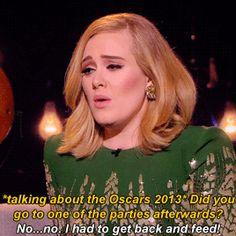 fuckyasadele:Adele talking about breast-feeding