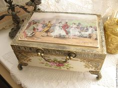 Купить Шкатулка для украшений - шкатулка для украшений, шкатулка, шкатулка ручной работы, розы, Роспись по дереву