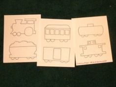 PDF Pattern for 6 Train Cars: Engine, Coal Car, Passenger Car, Boxcar, Oil Tanker, and Caboose