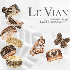 Celebrate the Holiday Season with Le Vian Chocolate Diamonds rings! Which of these sweet styles are on your wish list?