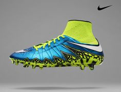 The new Nike Women's Hypervenom Phantom II soccer cleats that will be worn by Alex Morgan at this summer's Women's World Cup. The bright blue and volt color will be featured on the women's Nike soccer cleats this summer. Get your's today at SoccerCorner.com