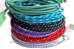 10 color available ios7 iPhone 5/ 5s/5c , iPad mini ipad 4 Charger Sync USB Fabric Braided Cable Neon Cord 3 FEET on Etsy, $8.99
