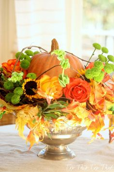 DIY::Last Minute Fall Centerpiece  by @Alana Sigmon Adams This Top That