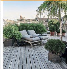 backyard designs – Gardening Ideas, Tips & Techniques Outdoor Spaces, Outdoor Living, Outdoor Decor, Patio Design, Garden Design, Porch Styles, Terraced Backyard, Sky Garden, Rooftop Garden