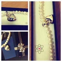 fresh water pearl bracelet #pearl #heart #valentine's #gift #bracelet