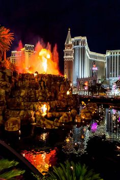 Volcano at the Mirage Hotel ~ Las Vegas, Nevada