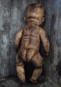 OOAK-Gothic-Corpse-Morgue-Zombie-Horror-Doll Scary Dolls, Gothic Horror, Old Dolls, Baby Love, Costumes, Halloween, Artist, Top, Ebay