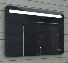 Spiegel met halogeen verlichting en schakelaar en stopcontacten aan ...