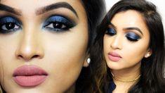 ♡ SEXY BLUE SMOKEY EYE ♡   Makeup Tutorial   BeautiCo.